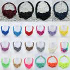 Women Colorful Cotton Hand-woven Rope Fashion Jewelry Chinese Knot Necklace