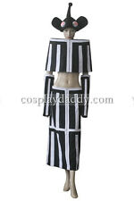 Soul Eater Mizune Black And White Stripe Dress Set Cosplay Costume L005