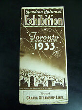 COME TO THE CANADIAN NATIONAL EXHIBITION TORONTO 1933