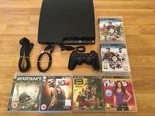 120gb PS3 SLIM CONSOLE -COMPLETE with 6 GAMES (Playstation 3) OFFICIAL UK BUNDLE