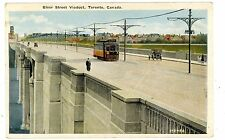 Toronto Ontario ON -TROLLEY ON BLOOR STREET VIADUCT BRIDGE-Postcard Canada