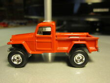 Matchbox 2016 Custom Jeep Willys 4X4 with Chrome Rims and Real Rider Tires 1:64