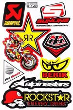 Motorcycle Bike Akrapovic Berik Motocross Rockstar Energy ATV Stickers Decals