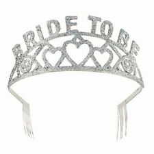 QUALITY METAL BRIDE TO BE TIARA - HEN PARTY GIFT - BRIDE TO BE SILVER TIARA