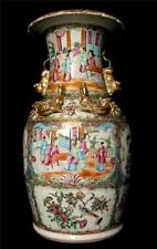 Cantonese C19th Fine Quality Vase of baluster form exquisitely decorated 14""