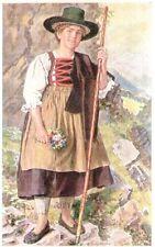 Riproduzione Cartolina Costumi 1918 Costume Alpi Tirolesi Piesenthaler