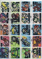 CARTOON NETWORK Complete set 56 Tazos Pogs Taps BUILDABLE FIGURES ARMABLES RARE