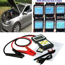 Car Battery Tester  30-200Ah Auto Battery Load Analyzer Flooded 12V AGM CCA GEL