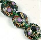 Lampwork Handmade Glass Moonlight Lentil Beads 14mm (8)