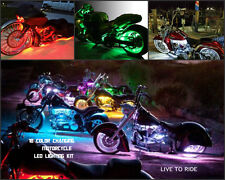 Wireless Remote 8pc 18 Color Changing Led Breakout Motorcyle Led Strip Light Kit