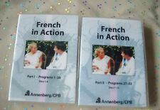 FRENCH IN ACTION  PART I - PART II PROGRAMS 1-52  12 DVD SET