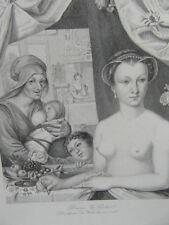 GRAVURE GALERIE HISTORIQUE VERSAILLES 1840 / DIANE DE POITIERS