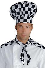 CAPPELLO x Pasticcere Chef CUOCO Classico BIANCO+ Fantasia SCACCHI Quadri ��