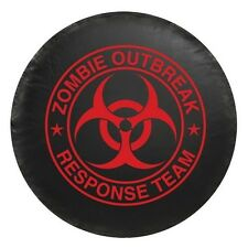 Universal Red Zombie Breakout Response Team Spare Tire Cover New Free Shipping