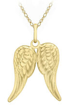 "9ct Yellow Gold Wings Pendan on 18"" Prince Of Wales Chain Inc Luxury Gift Box"