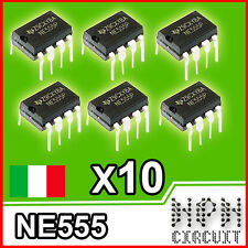 10X NE555 INTEGRATO Timer Temporizzatore multifunzione DIP-8 (10 Pezzi)