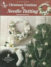 Christmas Creations in Needle Tatting Kenna Prior Ornaments Garland Patterns NEW