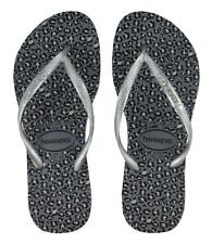 HAVAIANAS WOMEN'S SLIM FLIP FLOPS ANIMALS STEEL GREY BRA35/36 US 6W 5M EUR 37/38