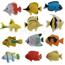 LOT 12 Plastic Sea Animal Tropical Angel Fish Ocean Creature KIDS TOY GIFT