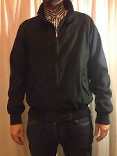 Mens FERAUD L Black Harrington Bomber Jacket Mod Indie Casuals Ska
