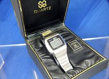 Vintage Retro Seiko LCD LC RARE Digital Watch BOXED 1970s Working 0124-0019