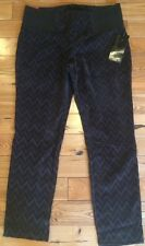 NWT Womens ONE 5 ONE Chocolate Ponte Velvet Pull On Pants Size XL X-Large