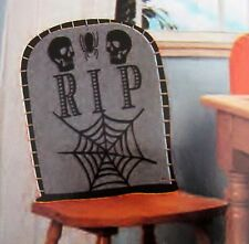 Tomb Stone Chair Cover Halloween Party RIP Graveyard Skeleton Haunted House Seat