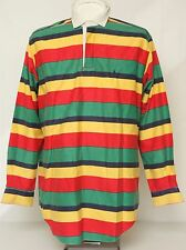 * VINTAGE 80s 90s POLO by RALPH LAUREN POLO RUGBY HORIZONTAL STRIPE SHIRT