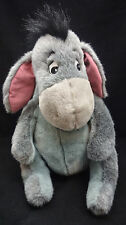 "Eeyore Disney Winnie Pooh Friends Embroidered Eyes Gray Mauve Plush Big 15"" Toy"