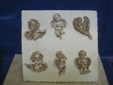 NEW DESIGN LATEX RUBBER MOULDS OF A PLAQUE OF 6 FAIRIES/ANGELS