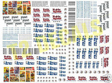 N Scale Tim McCoy Circus Wagon Decals- HUGE 8.5 X 11 SHEET!