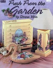 Fresh From The Garden Decorative Tole Painting Book by Donna Kerr NEW