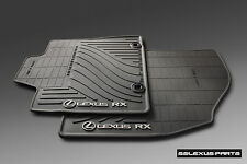 Lexus RX350 RX450H (2013-2015) ALL WEATHER FLOOR MATS OEM 4pc BLK PT908-48130-20