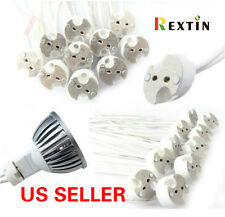 50 PCS LED Bulbs Holder GU5.3 G4 MR16 MR11  Base Socket Wire Connector Halogen