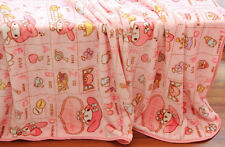 My melody pink candy coral fleece blanket warm blankets 140X200cm new