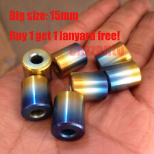 15mm Titanium Ti cylinder PARABEADS Parachute Cord Knife Tool Key Lanyard Bead