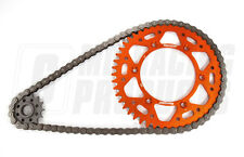 KTM EXC 525 03 - 09 RK 520 Chain & Supersprox Aluminium Sprocket Kit Orange