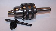 "Mini Lathe 1/2"" Keyed Drill Chuck On Short Arbor Fits Mini Lathes"