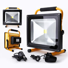 50W Portable Outdoor Hi Power White LED Work Light Rechargeable Floodlight IP65
