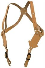 BULLSEYE LEATHER SHOULDER HOLSTER STRAP RIG KIT by TANDY