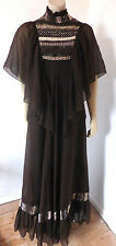 "Vintage 1960s 60s 70s Hippy Boho ""After Six"" Maxi Dress Size 6 - 8"