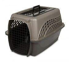 Petmate Two Door Top Load 24Inch Pet Kennel, Metallic Pearl Tan and Coffee