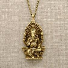 """GANESHA NECKLACE 26"""" Chain 2.25 Large Pendant Hindu Elephant God NEW Ganesh"""