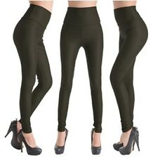 Hot Sexy High Waist Wet Look PU Leather Leggings Pants Jean Trousers FIT UK XS-L