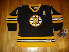 New CCM BOBBY ORR BOSTON BRUINS 75-76 Stitched Youth NHL Hockey Team JERSEY L XL