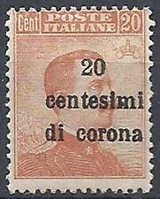 1919 TRENTO E TRIESTE 20 CENT VARIETà  MNH ** - RR11963-2
