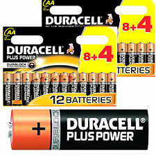 24 = 2 Pack of 12 AA DURACELL PLUS POWER MN1500 LR6 Alkaline Battery batteries