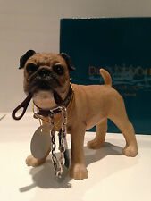 Walkies Standing Fawn Pug Ornament Dog Puppy Gift Present Figure Figurine