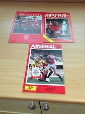 3 X Vintage Arsenal vs Chelsea Programmes 1970's/1980's - See all pictures!!