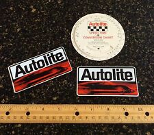 NOS Autolite-Ford GT-40 embossed decals & GT speed-time chart! Boss 429 Shelby!